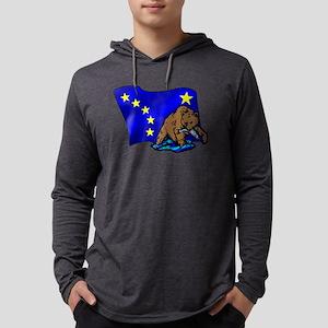 Alaskan Bear Flag Mens Hooded Shirt