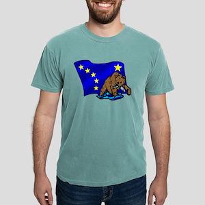 Alaskan Bear Flag Mens Comfort Colors Shirt