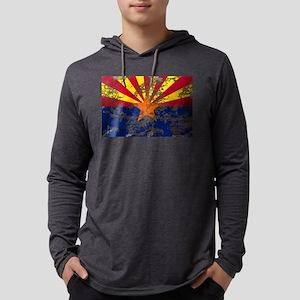 Retro Arizona Flag Mens Hooded Shirt