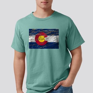 Colorado Vintage Flag Mens Comfort Colors Shirt