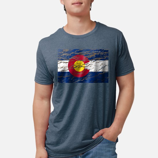 Colorado Vintage Flag Mens Tri-blend T-Shirt