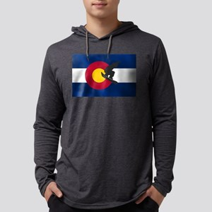 Colorado Snowboard Flag Mens Hooded Shirt