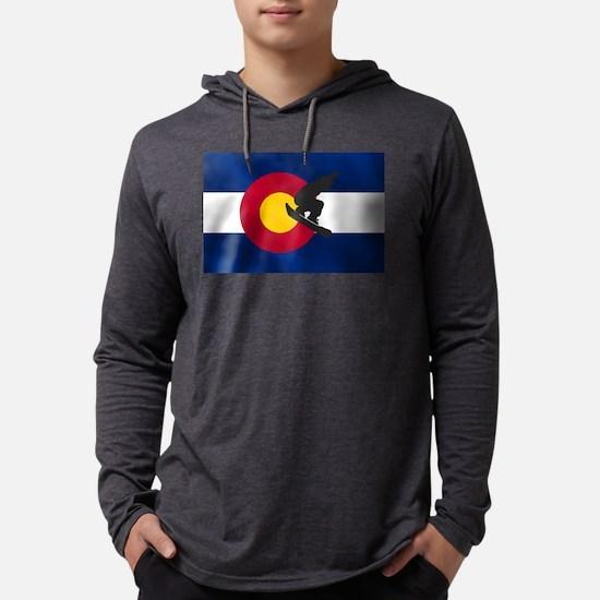 Colorado Snowboard Flag Mens Hooded Shirt