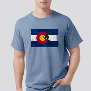 Colorado Snowboard Flag Mens Comfort Colors Shirt