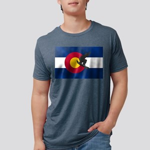 Colorado Snowboard Flag Mens Tri-blend T-Shirt