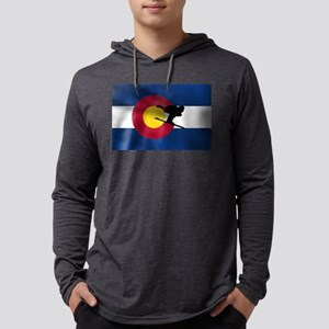 Colorado Skiing Flag Mens Hooded Shirt