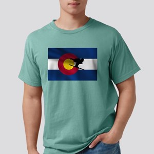 Colorado Skiing Flag Mens Comfort Colors Shirt