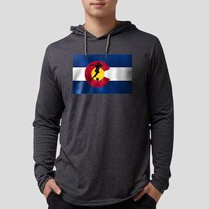 Colorado Soccer Flag Mens Hooded Shirt