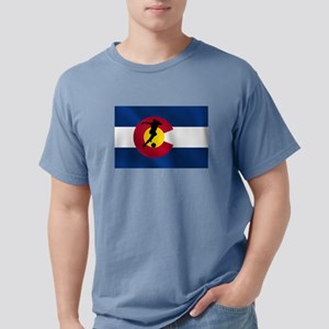 Colorado Soccer Flag Mens Comfort Colors Shirt