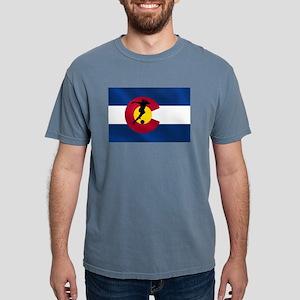 Colorado Soccer Flag Mens Comfort Colors Shirt