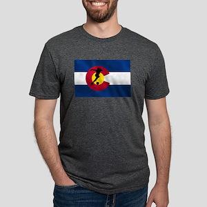 Colorado Soccer Flag Mens Tri-blend T-Shirt