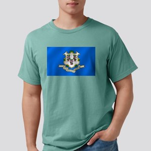 Flag of Connecticut Mens Comfort Colors Shirt