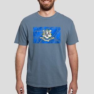 Vintage Connecticut Flag Mens Comfort Colors Shirt