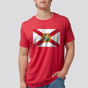 State Flag of Florida Mens Tri-blend T-Shirt