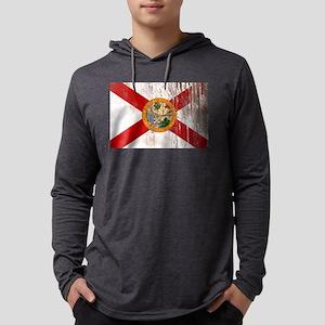 Florida Grunge Flag Mens Hooded Shirt