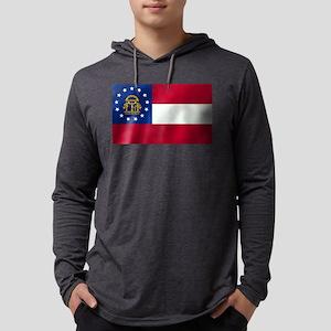 Georgia State Flag Mens Hooded Shirt