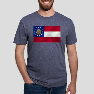 Georgia State Flag Mens Tri-blend T-Shirt