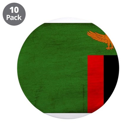 """Zambia Flag 3.5"""" Button (10 pack)"""