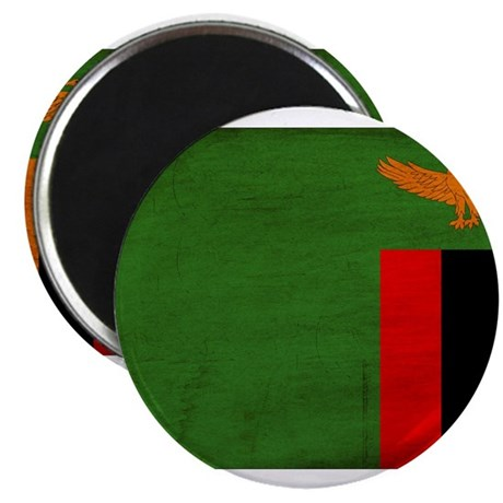 """Zambia Flag 2.25"""" Magnet (10 pack)"""