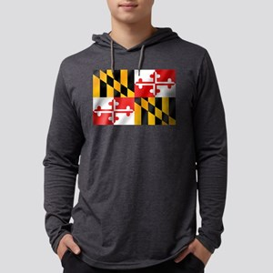 Flag of Maryland Mens Hooded Shirt