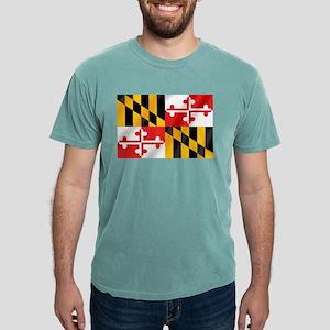 Flag of Maryland Mens Comfort Colors Shirt