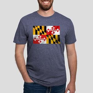 Flag of Maryland Mens Tri-blend T-Shirt