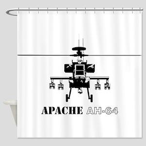 Apache AH-64D Shower Curtain