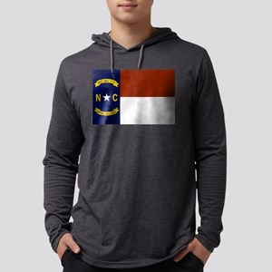 North Carolina Flag Mens Hooded Shirt
