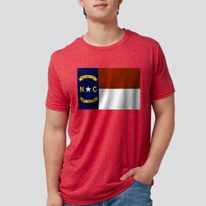 North Carolina Flag Mens Tri-blend T-Shirt