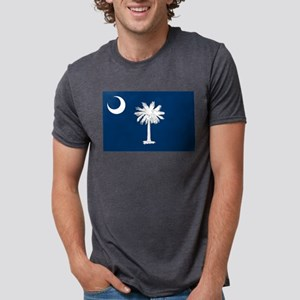 South Carolina State Flag Mens Tri-blend T-Shirt