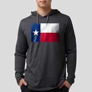 Flag of Texas Mens Hooded Shirt