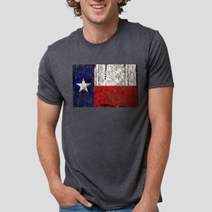 Retro Flag of Texas Mens Tri-blend T-Shirt