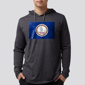 Virginia State Flag Mens Hooded Shirt