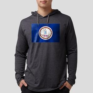 Virginia State Flag Mens Hooded Shirt