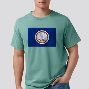 Virginia State Flag Mens Comfort Colors Shirt