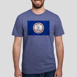 Virginia State Flag Mens Tri-blend T-Shirt