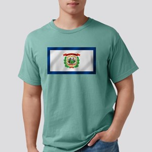 West Virginia State Flag Mens Comfort Colors Shirt
