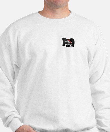 Caribbean Pirate Flag (pocket) Sweatshirt