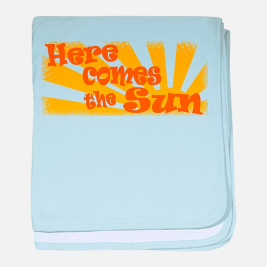 Here Comes the Sun baby blanket