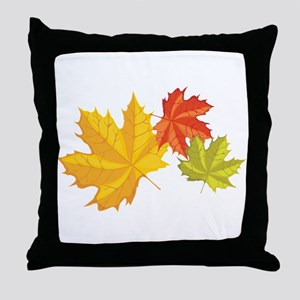 Three Leaves Throw Pillow