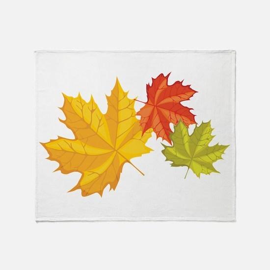 Three Leaves Throw Blanket