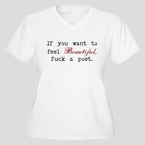 Poetic Lovin' Women's Plus Size V-Neck T-Shirt