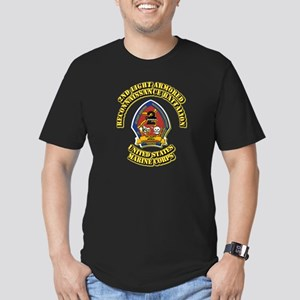 USMC - 2nd LARBn with Text Men's Fitted T-Shirt (d