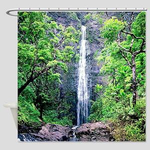 Hanakapiai Falls Hawaii Shower Curtain