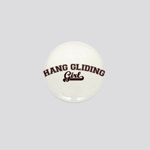 Hang Gliding girl Mini Button
