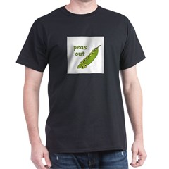 Peas Out... Peace Out! Black T-Shirt