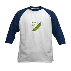 Peas Out... Peace Out! Kids Baseball Jersey