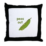 Peas Out... Peace Out! Throw Pillow