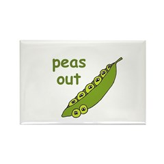 Peas Out... Peace Out! Rectangle Magnet