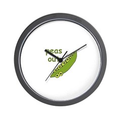 Peas Out... Peace Out! Wall Clock